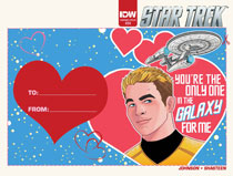 Image: Star Trek #54 (subscription cover - Valentine's Day Card) [2016] - IDW Publishing