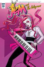 Image: Jem and the Holograms #24 (incentive cover - Gisele Legace) (10-copy) - IDW Publishing