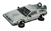 Image: Back To The Future 2 Electronic Vehicle: Frozen Hover Time Machine  - Diamond Select Toys LLC