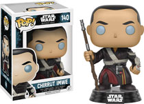 Image: Pop! Star Wars: Rogue One Vinyl Bobble-Head 140: Chirrut Imwe  - Funko