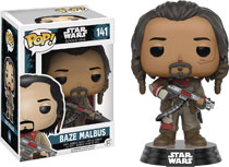 Image: Pop! Star Wars Rogue One Vinyl Bobble-Head 141: Baze Malbus  - Funko
