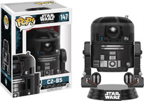 Image: Pop! Star Wars Rogue One Vinyl Bobble-Head 147: C2-B5  - Funko