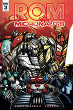 Image: Rom & the Micronauts #3 (variant incentive cover - James Raiz) (10-copy)  [2018] - IDW Publishing