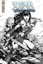Image: Xena #1 (cover E incentive - Finch B&W) (25-copy) - Dynamite