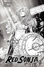 Image: Red Sonja #14 (cover F incentive - Meyers B&W) (10-copy)  [2018] - Dynamite