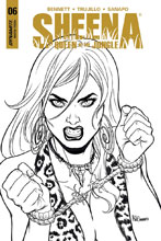 Image: Sheena #6 (cover E incentive - Sanapo B&W) (10-copy) - Dynamite