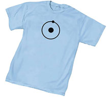 Image: Watchmen T-Shirt: Dr. Manhattan Symbol  (S) - Graphitti Designs