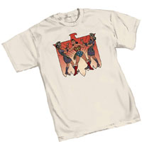 Image: Wonder Woman T-Shirt: Warriors by Cooke  (XL) - Graphitti Designs