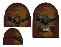 Image: Star Wars Face Flip Knit Mesh Beanie: Chewbacca  - Concept One Accessories