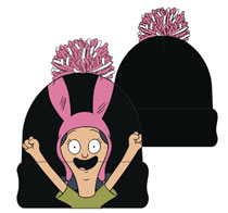 Image: Bob's Burgers Cuff Beanie: Louise Belcher  - Concept One Accessories