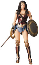 Image: Justice League MAFEX Action Figure: Wonder Woman  - Medicom Toy Corporation