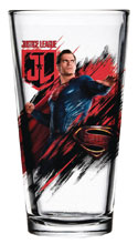 Image: Justice League Movie Pint Glass: Superman  - Popfun Merchandising LLC