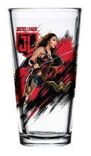 Image: Justice League Movie Pint Glass: Wonder Woman  - Popfun Merchandising LLC