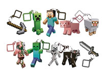 Image: Minecraft Action Figure Hanger 24-Piece Blind Mystery Box Display Series 1  - Ucc Distributing