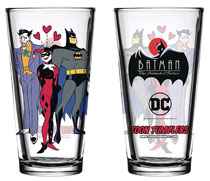 Image: Batman Animated Series Pint Glass: Mad Love  - Popfun Merchandise