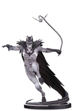 Image: Batman Black & White Statue: Batman by Kenneth Rocafort  - DC Comics