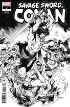Image: Savage Sword of Conan #2 (incentive cover - Larraz B&W) - Marvel Comics