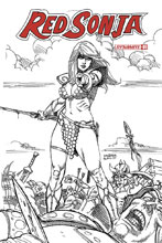 Image: Red Sonja Vol. 05 #1 (incentive cover - Linsner B&W) (30-copy) L - Dynamite