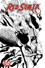 Image: Red Sonja Vol. 05 #1 (incentive cover - Seduction B&W) (50-copy) - Dynamite