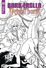 Image: Barbarella / Dejah Thoris #2 (incentive cover - Sanapo B&W) (50-copy) - Dynamite