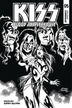 Image: Kiss: Blood and Stardust #5 (incentive cover - Buchemi B&W) (10-copy) - Dynamite