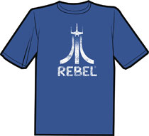 Image: 8 Bit Rebels Backlit T-Shirt  (S) - Antarctic Press