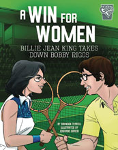 Image: Win for Women: King Takes Down Riggs GN  (Yound Adult) - Capstone Press