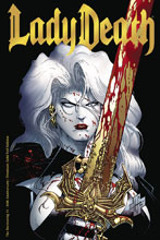 Image: Lady Death: The Reckoning #1 (variant cover - 25th Anniversary Gold Foil) - Coffin Comics