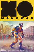 Image: X-O Manowar [2017] #24 (incentive cover - Portela Interlocking) (20-copy) - Valiant Entertainment LLC