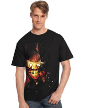 Image: DC Heroes T-Shirt: Laughing Batman  (L) - Graphitti Designs