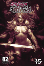 Image: Red Sonja: Age of Chaos #2 (incentive 1:25 cover - Chew Monochromatic) - Dynamite