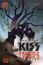 Image: Kiss: Zombies #4 (cover B - Sayger) - Dynamite