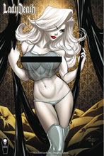 Image: Lady Death: Scorched Earth #1 (variant Naughty cover - Ale Garza) - Coffin Comics
