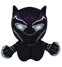 Image: Marvel Kuricha Sitting Plush Figure: Black Panther  (8-inch) - Bleacher Creatures
