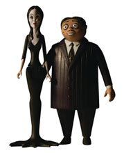 Image: 5 Points Addams Family Morticia/Gomez 6-Piece Solid Figure Case  - Mezco Toys
