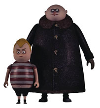 Image: 5 Points Addams Family Fester/Pugsley 6-Piece Solid Figure Case  - Mezco Toys