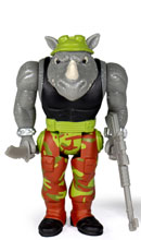 Image: Teenage Mutant Ninja Turtles Reaction Figure: Rocksteady  - Super 7