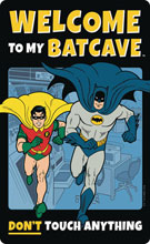 Image: DC Tin Sign: Batman - Welcome to the Batcave  - Open Road Brands LLC