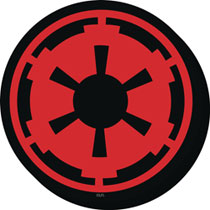 Image: Star Wars Chunky Magnet: Imperial Symbol  - Nmr Distribution America