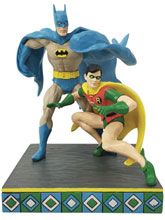 Image: Jim Shore DC Comics Figure: Batman And Robin  (8 Inches) - Enesco Corporation
