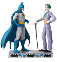 Image: Jim Shore DC Comics Figure: Batman Vs The Joker  (9.25 Inches) - Enesco Corporation