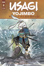 Image: Usagi Yojimbo: Wanderer's Road #4 (main cover - Peach Momoko) - IDW Publishing
