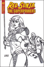 Image: Red Sonja: The Superpowers #2 (incentive 1:20 cover - Linsner B&W) - Dynamite