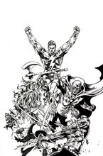 Image: Red Sonja: The Superpowers #2 (incentive 1:40 cover - Lau B&W virgin) - Dynamite