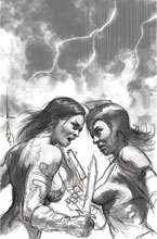 Image: Red Sonja: The Superpowers #2 (incentive 1:50 cover - Parrillo B&W virgin) - Dynamite