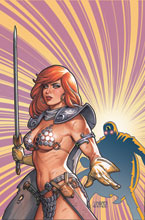 Image: Red Sonja: The Superpowers #2 (variant cover - Linsner virgin) - Dynamite