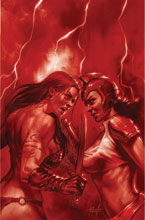 Image: Red Sonja: The Superpowers #2 (variant Crimson Red Art cover - Parrillo virgin) - Dynamite