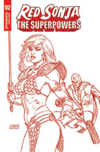 Image: Red Sonja: The Superpowers #2 (variant Crimson Red Art cover - Linsner) - Dynamite
