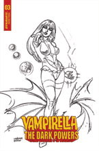 Image: Vampirella: The Dark Powers #3 (incentive 1:20 cover - Linsner B&W) - Dynamite