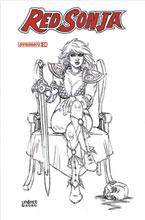 Image: Red Sonja Vol. 05 #24 (incentive 1:15 cover - Linsner B&W) - Dynamite